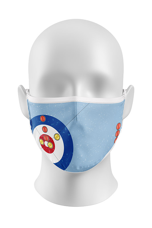 Curling themed Viroblock Facemask